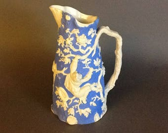 1850's TJ Mayer Relief Parian Pitcher England