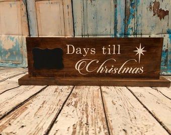 Days till christmas sign
