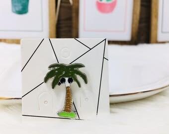 Tropical Palm Tree Pin