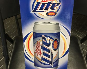Miller Lite Beer Rotating Can Light Display New 2004