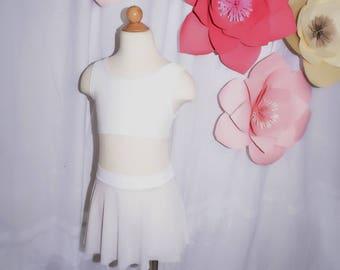 Dance skirt mesh white