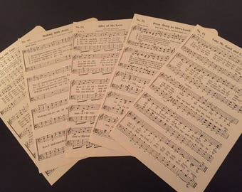 Vintage sheet music religious