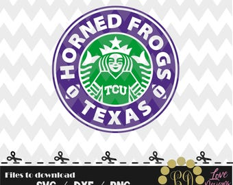 Horned Frogs TCU Coffee svg,png,dxf,shirt,jersey,football,college,university,decal,proud mom,disney,starbucks,ncaa,2018,custom,texas