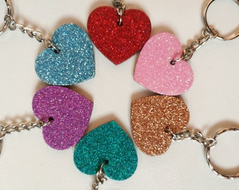 Hand Decorated Key rings and bag charms.