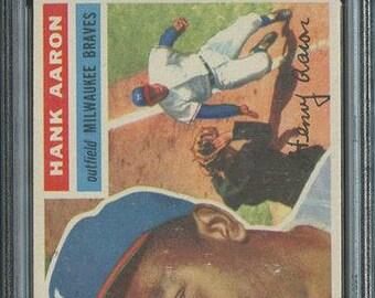 1956 Topps #31 Hank Aaron HOF PSA 6 - Centered-White Back