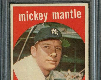 1959 Topps #10 Mickey Mantle PSA 5