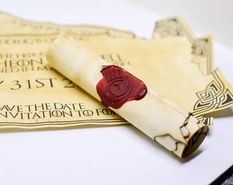 Game of Thrones scrolls - Save The Date