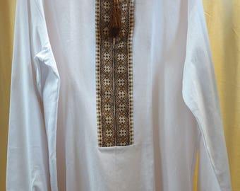 Men shirt Ukrainian vyshyvanka Ukrainian hand embroidery Embroidered shirt Ukrainian clothing SALE ONLY HANDMADE! New year discounts!