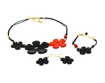 CICONA - Murano Glass Hand-made Jewelry Set