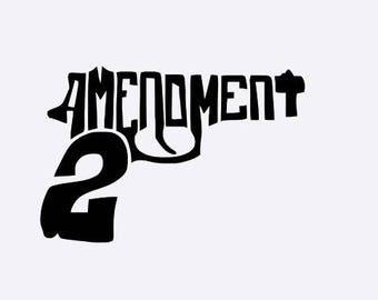 2nd Amendment Gun Sticker