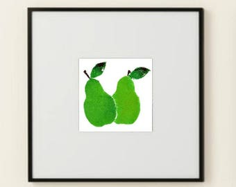 A Pair of Pears printable wall art poster instant download