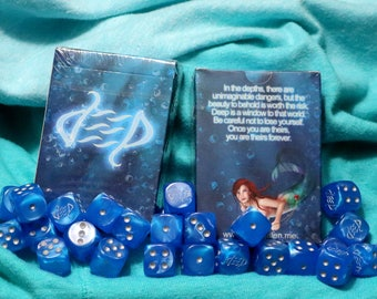 Deep - Mermaid Themed Illustrated Playing Cards