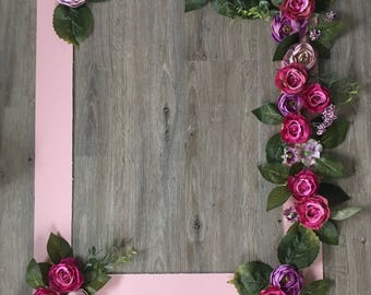 MADE TO ORDER Large floral polaroid photo frame