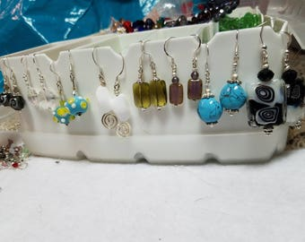 From petite to chunky Glass danglies