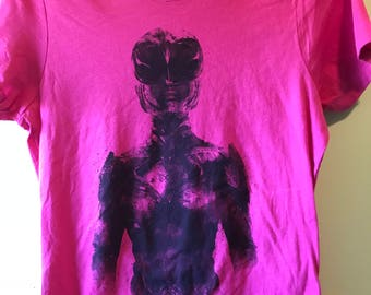 Pink Power Ranger Ladies Tshirt
