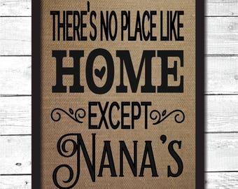 no place like home print, nanas house, nanas house sign, grandparent gifts, nana gift, gift for nana, nana Christmas gift, nana sign, FM8