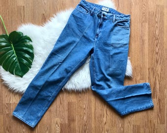 Vintage LL Bean Jeans, Mom Jeans, Labeled Size 14, Waist 34'