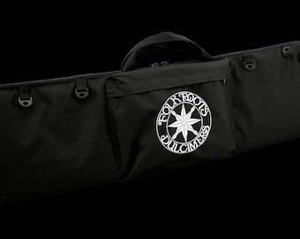"""Dulcimer Carrying Bag, Embroidered With """"FolkRoots Dulcimers"""" Logo"""