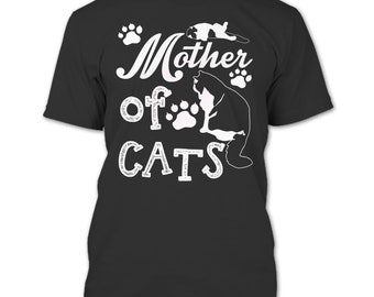 Mother Of Cats T Shirt, Coolest Cat Mom T Shirt