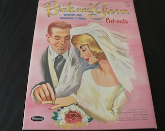 1963 Bride and Groom Paper Dolls