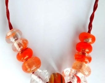 Large Borosilicate Lampwork Bead Necklace