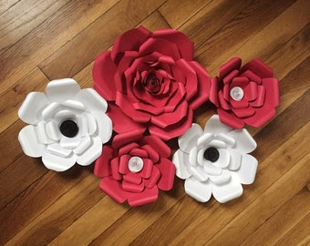 Set of 5 paper Flowers