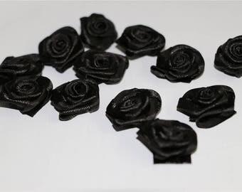20 pcs,Miniature black roses