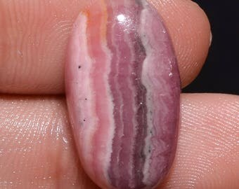 Natural rhodochrosite oval cabochon 21x11x5 mm 16.45 ct