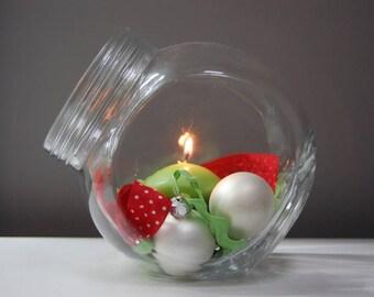 Glass Candleholder   Glass Candle Holder