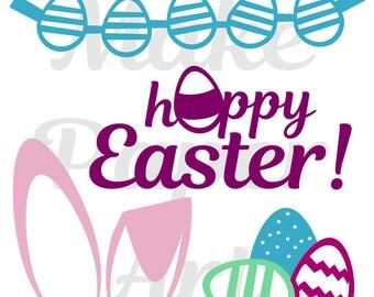 Hoppy Easter Cut file, Easter Cut file, Spring Cut file