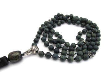 "Mala Necklace ""Rhyolite"""