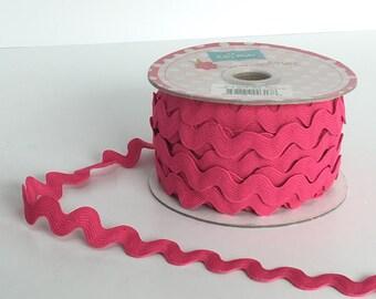 Hot Pink Ric Rac 3/4 inch by Riley Blake   Ric Rac Trim  