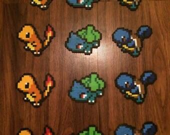 Starter Pokemon perler
