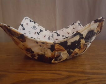 Microwave Bowl Reversable Dogs 100% Cotton Hot/Cold Pad