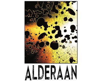 "Alderaan 13"" x 19"" Travel Poster"