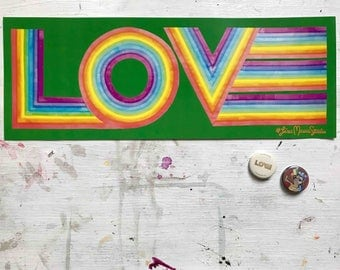 LOVE poster by artist Lisa Marie Thalhammer