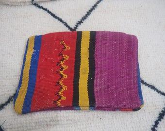 vintage Moroccan cushion Handmade Berber Kilim  unstuffed(16 inches)