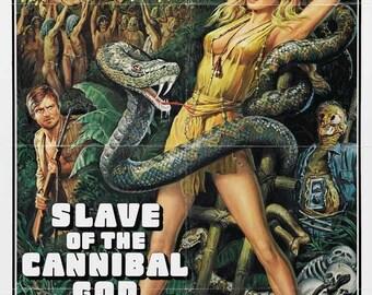 Slave of the Cannibal God (1978) movie poster 11 x 17 Italian jungle horror Ursula Andress Stacy Keach Claudio Cassinelli Sergio Martino