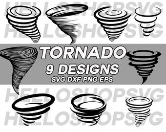 tornado svg, hurricane svg, typhoon svg, storm svg, clipart, decal, stencil, silhouette, eps, png, dxf, vinyl, cut file, iron on
