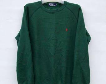 RARE!! POLO  / Polo Ralph Lauren Small Pony Green Sweatshirt