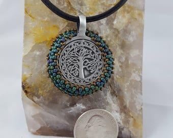 Tree of Life Beaded Pendant