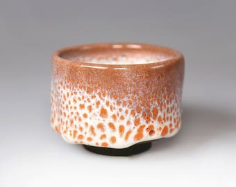 Glost-fired Earthen Teacup- Rich texture; Japanese style handmade tea cup with melted snow glaze, taiwanese pottery, house warming gifts