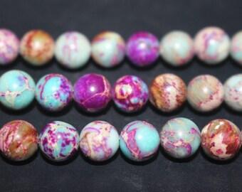 15 Inches Full strand,Violet Sea Sediment Jasper round beads 6mm 8mm 10mm 12mm beads,loose beads,semi-precious stone
