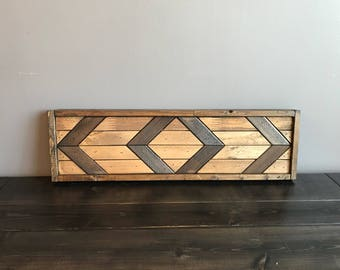 Chevron Rectangle Wallart