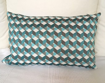 Pillow cover geometric rectangle / rectangular cushion cover geometric design
