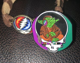 Kind Vibes Easter combo deal, steal your face bracelet plus steal your force hat pin, featuring master yoda inside a steely