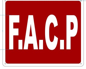 FACP SIGN (Aluminium Reflective , RED 10x12)