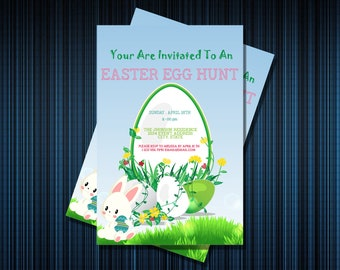 EEG HUNT INVITATION - Personalized Invitation - Custom Birthday - Printables Invitation - Digital file Download