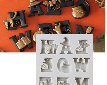 Halloween Letters, Shape ,Cake Mold, Silicone Berry Fondant Mold ,Cake Decoration Tool