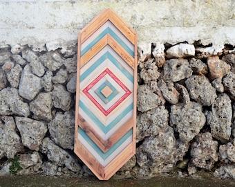 MoD. Alcaufar-wood geometric table-by Menorca Maker/Wood Art